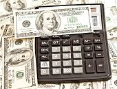Business Picture: Money And Calculator