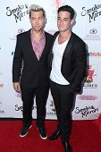 LOS ANGELES - SEP 13:  Lance Bass, Michael Turchin at the 2014 Brent Shapiro Foundation Summer Spectacular at Private Residence on September 13, 2014 in Beverly Hills, CA