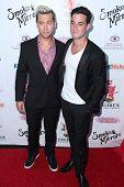 LOS ANGELES - SEP 13:  Lance Bass, Michael Turchin at the 2014 Brent Shapiro Foundation Summer Spect