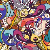 Vector Seamless Colored Abstract Pattern