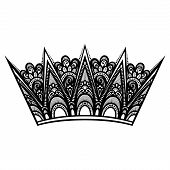 Vector Decorative Ornate Crown