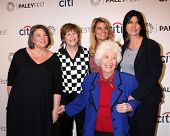 LOS ANGELES - SEP 15: Mindy Cohn, Geri Jewell, Lisa Whelchel, Charlotte Rae, Nancy McKeon at the