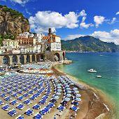 Italian holidays - beautiful  coast of Amalfi - Atrani village