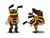 Cool bee in two variants