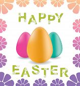 greeting card happy easter (vector)