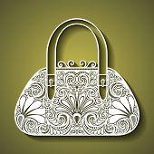 Vector Decorative Ornate Women's Bag
