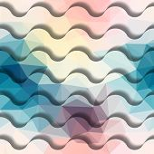 Waves with shadows pattern.