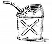 retro cartoon gas can