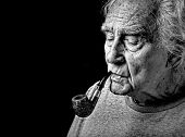 Old Man And His Pipe