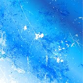 Detailed grunge background in shades of blue