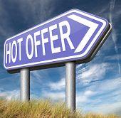 hot offer  or sign for online webshop. Internet web shop concept. shopping sales  announcing bargain