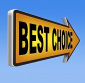 top choice best product quality guarantee label comparison  with text and word concept