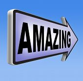 stock photo of you are awesome  - awesome  or wow sign excellent and super mind blowing product - JPG