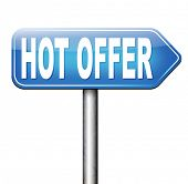 special hot price low product cost real bargain promotion sign