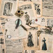 Antique Office Supplies, Writing Tools, Vintage Fashion Magazine