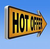 best value hot offer internet product sales promotion road sign