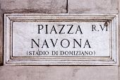 Sign Of Piazza Navona