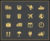 Logistic and delivery icons. Vector illustration