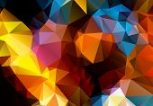 Multicolored background polygon