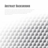 Abstract geometric vector background. White glass cubes