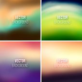 Abstract colorful blurred vector backgrounds set 25