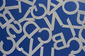 Antibes, France - Aug 27, 2014: Sculpture Of White Steel Painted Letters