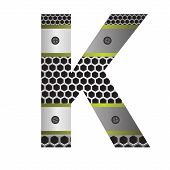 Perforated Metal Letter K