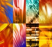 Abstract Element Strips: Great For Use As under Layer Elements