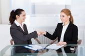 Two Businesswoman Shaking Hand