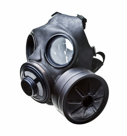 image of s10  - gas mask isolated on white - JPG