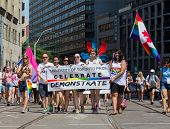 People At The Annual Dyke March In Toronto