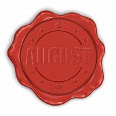 Wax Stamp august (clipping path included)