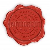 Wax Stamp authorized (clipping path included)