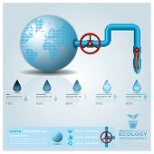 pic of pipeline  - Ecology Water Pipeline Business Infographic Design Template - JPG
