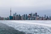 Toronto And Lake Ontario In The Winter