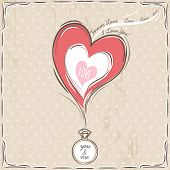 Valentine Card With Heart And Engagement Ring