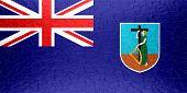 Montserrat flag on metallic metal texture