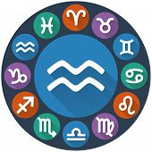 Signs Of The Zodiac Circle - Aquarius