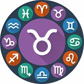 Signs Of The Zodiac Circle - Taurus