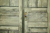 The Pattern Of Old Green Door