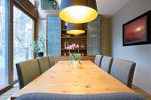 Cozy Illuminated Dining Room