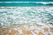 Caribbean Foamy Structure Of Sea Water