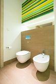 Modern Bathroom With Toilet And Bidet