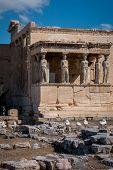 The Erechtheum In Acropolis Of Athens