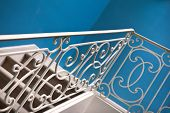 picture of upstairs  - Wrought iron upstairs in an classic hall - JPG