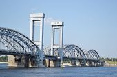 Finland Railway Bridge At Sunny Day.