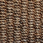 stock photo of handicrafts  - wicker texture background traditional handicraft weave Water Hyacinth - JPG