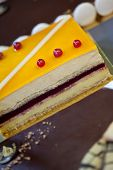 foto of french pastry  - Detail of a French pastry in a bakery - JPG