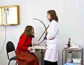 Doctor-ophthalmologist And Patient