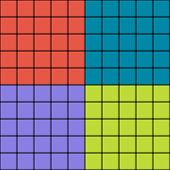 Squares with blurred borders modern seamless pattern. Colorful rectangles simple background. Vector